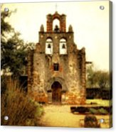 Mission Espada Acrylic Print by Iris Greenwell