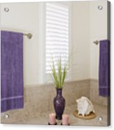 Bathroom Space Acrylic Print by Jeremy Woodhouse