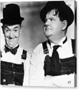 Laurel And Hardy Acrylic Print by Granger