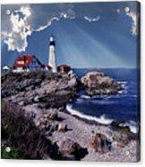 Portland Head Lighthouse Acrylic Print by Skip Willits