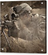 U.s. Army Ranger In Afghanistan Combat Acrylic Print by Tom Weber