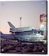 747 With Space Shuttle Enterprise Before Alt-4 Acrylic Print by Brian Lockett