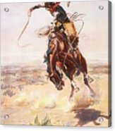 A Bad Hoss Acrylic Print by Charles Russell