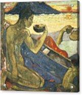 A Canoe Acrylic Print by Paul Gauguin