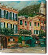 A Day In Portofino Acrylic Print by Charlotte Blanchard