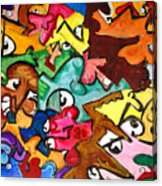 A Face In The Crowd Acrylic Print by Jame Hayes