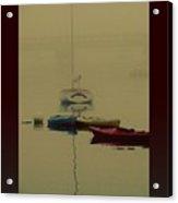A Foggy Day On Cape Cod Bay... Acrylic Print by Rene Crystal