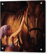 A Girls First Love Acrylic Print by Billie Colson
