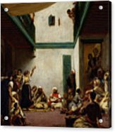 A Jewish Wedding In Morocco Acrylic Print by Ferdinand Victor Eugene Delacroix