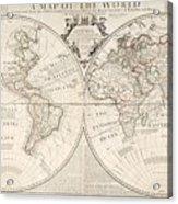 A Map Of The World Acrylic Print by John Senex