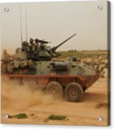 A Marine Corps Light Armored Vehicle Acrylic Print by Stocktrek Images