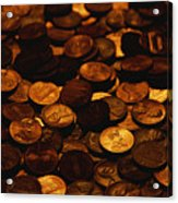 A Mound Of Pennies Acrylic Print by Joel Sartore