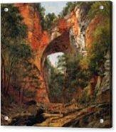 A Natural Bridge In Virginia Acrylic Print by David Johnson