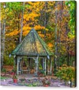 A Quiet Place-fall Time Acrylic Print by Robert Pearson