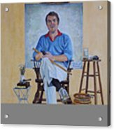 A Rockwell Tribute Acrylic Print by Michael Lewis