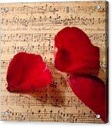 A Romantic Note Acrylic Print by Kathy Bucari