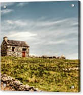 A Shack On The Aran Islands Acrylic Print by Natasha Bishop