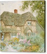 A Surrey Cottage Acrylic Print by Arthur Claude Strachan