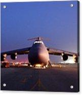 A U.s. Air Force C-5 Galaxy Aircraft Acrylic Print by Everett