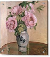 A Vase Of Peonies Acrylic Print by Camille Pissarro