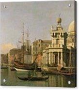 A View Of The Dogana And Santa Maria Della Salute Acrylic Print by Antonio Canaletto