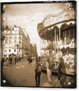 A Walk Through Paris 4 Acrylic Print by Mike McGlothlen