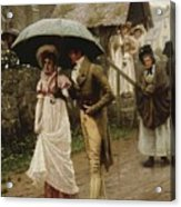 A Wet Sunday Morning Acrylic Print by Edmund Blair Leighton