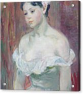 A Young Girl Acrylic Print by Berthe Morisot