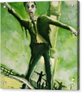 A Zombie In Herne Bay Acrylic Print by Paul Mitchell