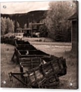 Abandoned Cars And Scattered Nuggets Acrylic Print by Royce Howland