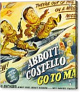 Abbott And Costello Go To Mars, Bud Acrylic Print by Everett