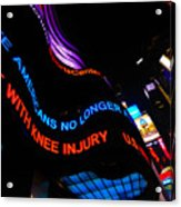 Abc News Scrolling Marquee In Times Square New York City Acrylic Print by Amy Cicconi