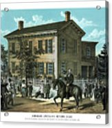 Abraham Lincoln's Return Home Acrylic Print by War Is Hell Store