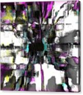Abstract A Flower  Acrylic Print by Fania Simon