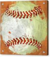 Abstract Baseball Acrylic Print by David G Paul