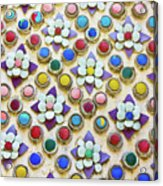 Abstract Ceramic Wall Background Acrylic Print by Wetchawut Masathianwong