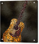 Abstract Guitar Acrylic Print by Michael Tompsett