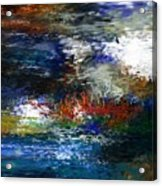 Abstract Impression 5-9-09 Acrylic Print by David Lane