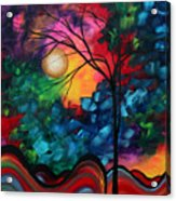 Abstract Landscape Bold Colorful Painting Acrylic Print by Megan Duncanson