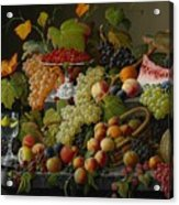 Abundant Fruit Acrylic Print by Severin Roesen