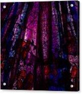 Acid Rain With Red Flowers Acrylic Print by Rachel Christine Nowicki