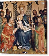 Adoration Of The Magi Altarpiece Acrylic Print by Stephan Lochner