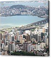 Aerial View Of Florianópolis Acrylic Print by DircinhaSW