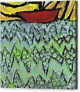 Afloat On The Bubbling Sea Acrylic Print by Wayne Potrafka