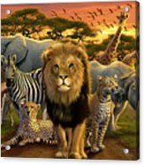 African Beasts Acrylic Print by Andrew Farley
