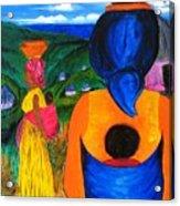 African Life 2919 Acrylic Print by Jessie Meier