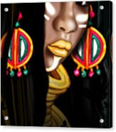 African Princess Acrylic Print by Kia Kelliebrew