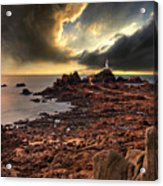 after the storm at La Corbiere Acrylic Print by Meirion Matthias