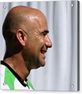 Agassi Smile Acrylic Print by Anne Babineau