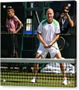 Agassi Warmup Acrylic Print by Anne Babineau